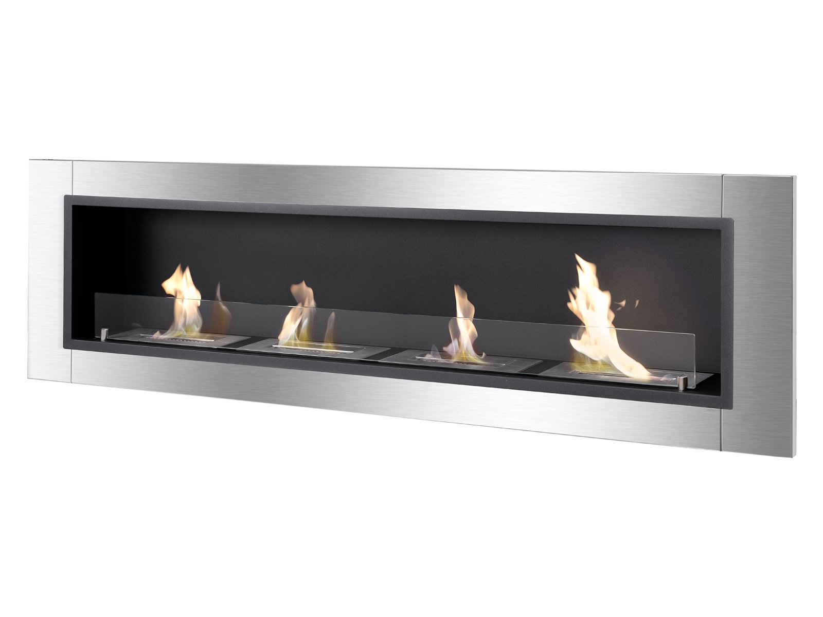 Ignis Ventless Bio Ethanol Fireplace Accalia with Safety Glass by Ignis