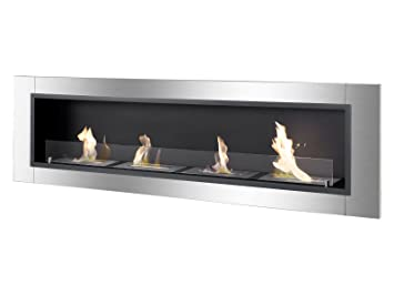 Buy Ignis Ventless Bio Ethanol Fireplace Accalia with Safety Glass: Gel & Ethanol Fireplaces - Amazon.com ? FREE DELIVERY possible on eligible purchases