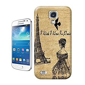 Unique Phone Case Sketch hand painted Lady Birds Eiffel Tower Hard Cover for samsung galaxy s4 cases-buythecase