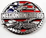 National Guard Enamel Pewter Buckle