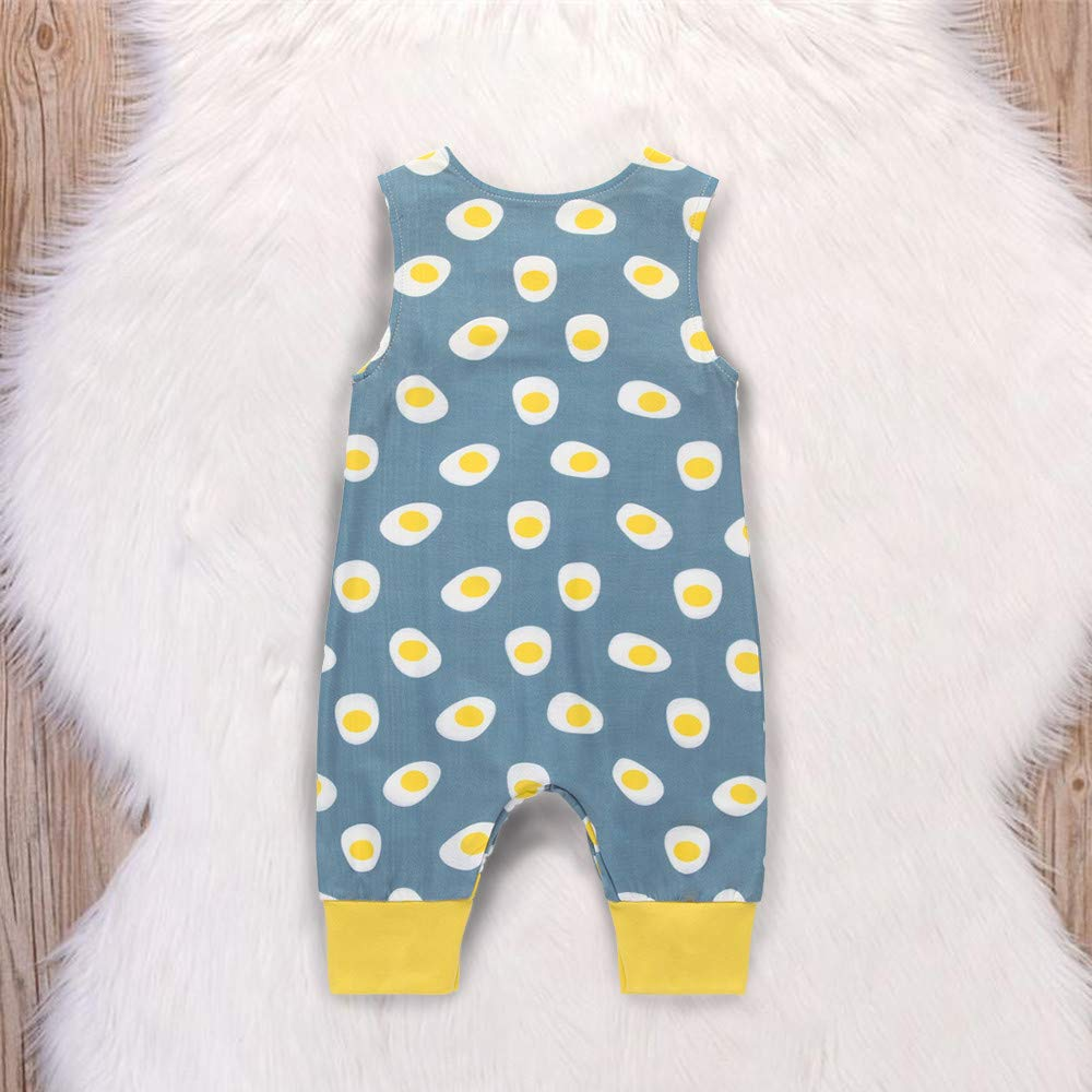 Tronet Newborn Kids Baby Boys Cartoon Animal Print Romper Jumpsuits Clothes Summer
