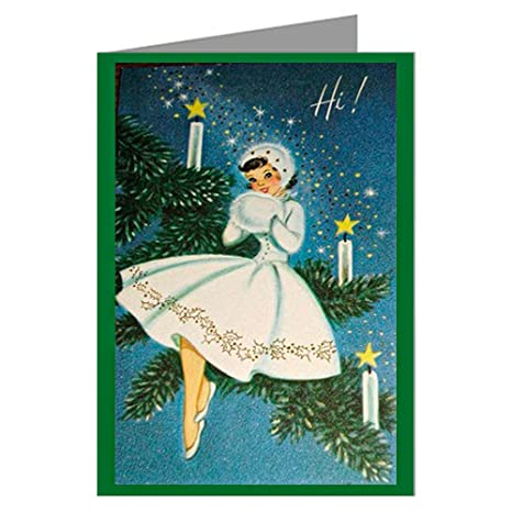 Amazon.com  Six 5x7 Vintage Holiday Greeting Cards In A