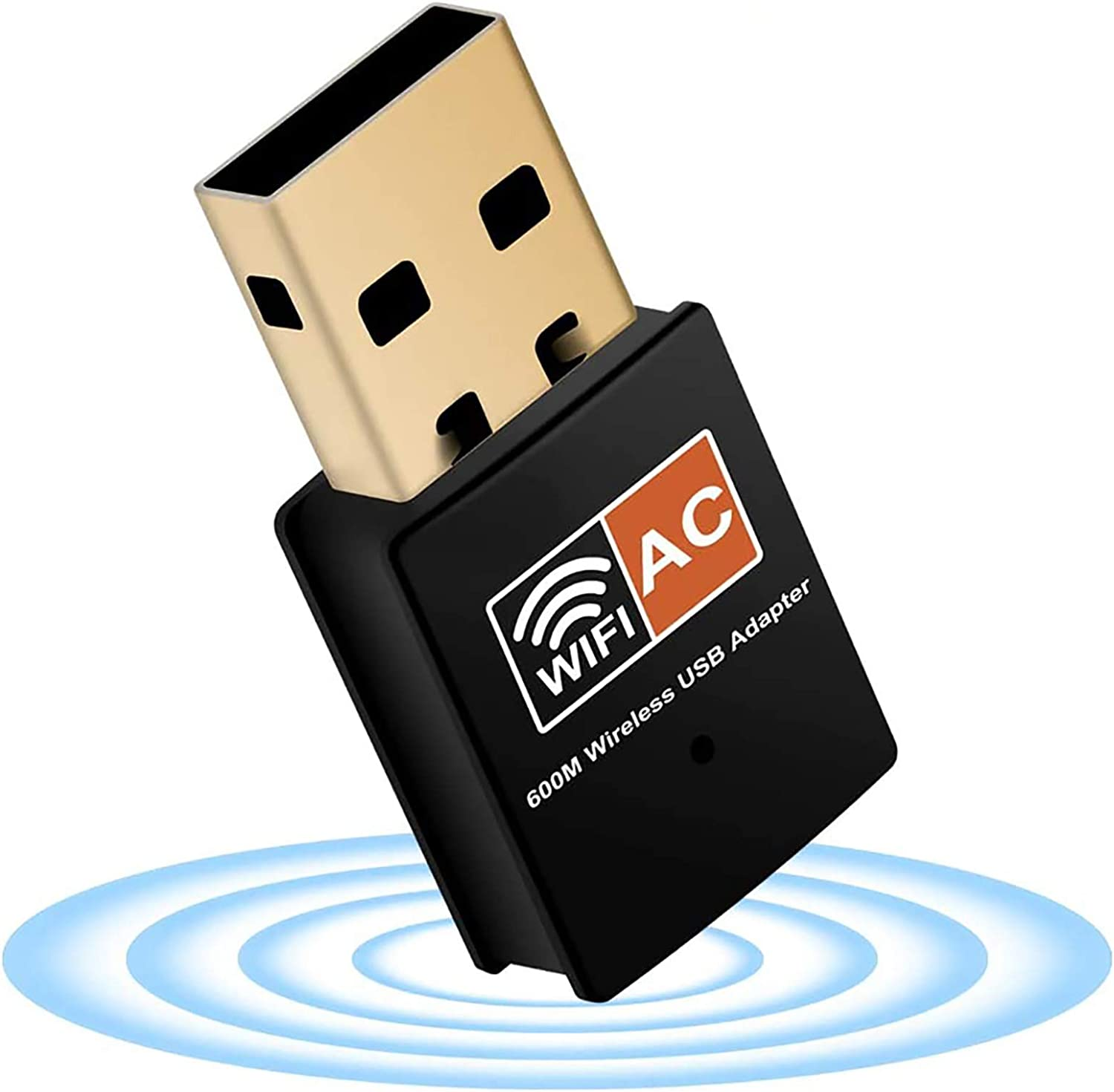 Xvz Usb Wifi Dongle For Pc 600 Mbps Dual Band 2 4 Ghz Computers Accessories