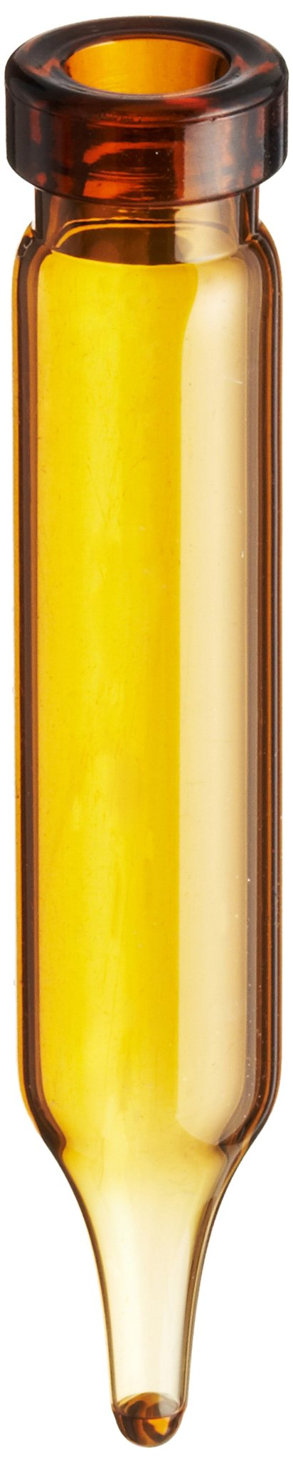 National Scientific Amber Glass Crimp Top Vial Conical Base, Capacity 450µL, 7mm D x 40mm H (Case of 1000)