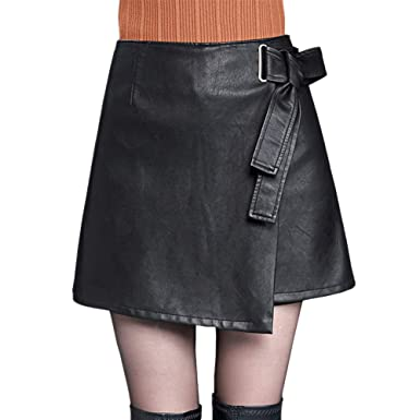 Valin FS6921 Jupe Club Mini Short Grande Taille Cuir PU  Amazon.fr ... 0d7ed8023296