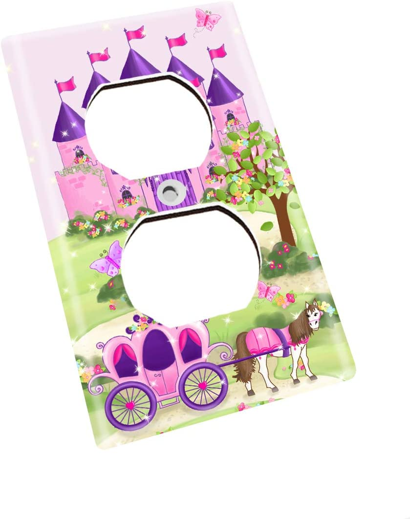 Double Decora Princess Fairytale Castle Girls Bedroom Light Switch Cover LS0051