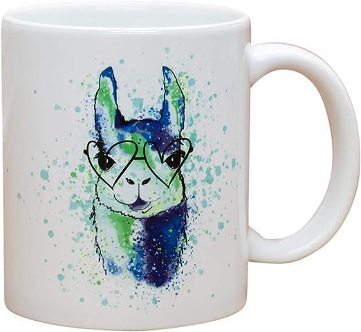 Minty Llama Custom Coffee Mug
