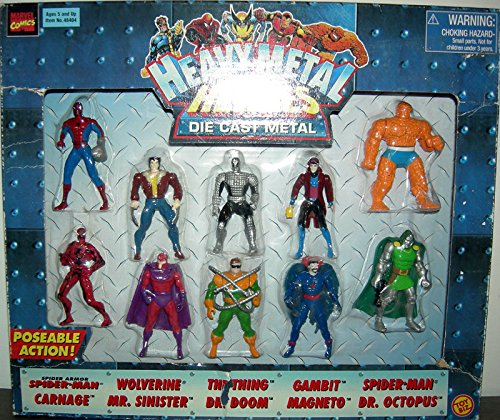 Heavy Metal Heroes action figure 10-Pack (series 2) Spider-Man, Wolverine, Spider Armor Spider-Man, Gambit, The Thing, Dr. Doom, Mr. Sinister (with goatee),Dr. Octopus, Magneto and Carnage.