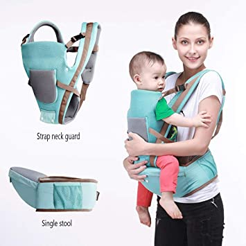 Multi-Function//Summer Breathable//Baby Seat//Holding Baby Artifact Suitable for Baby Babies Baby Sling Waist Stool Color : Green