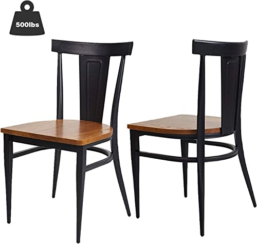 KARMAS PRODUCT 2 Pack Stackable Metal Dining Chair