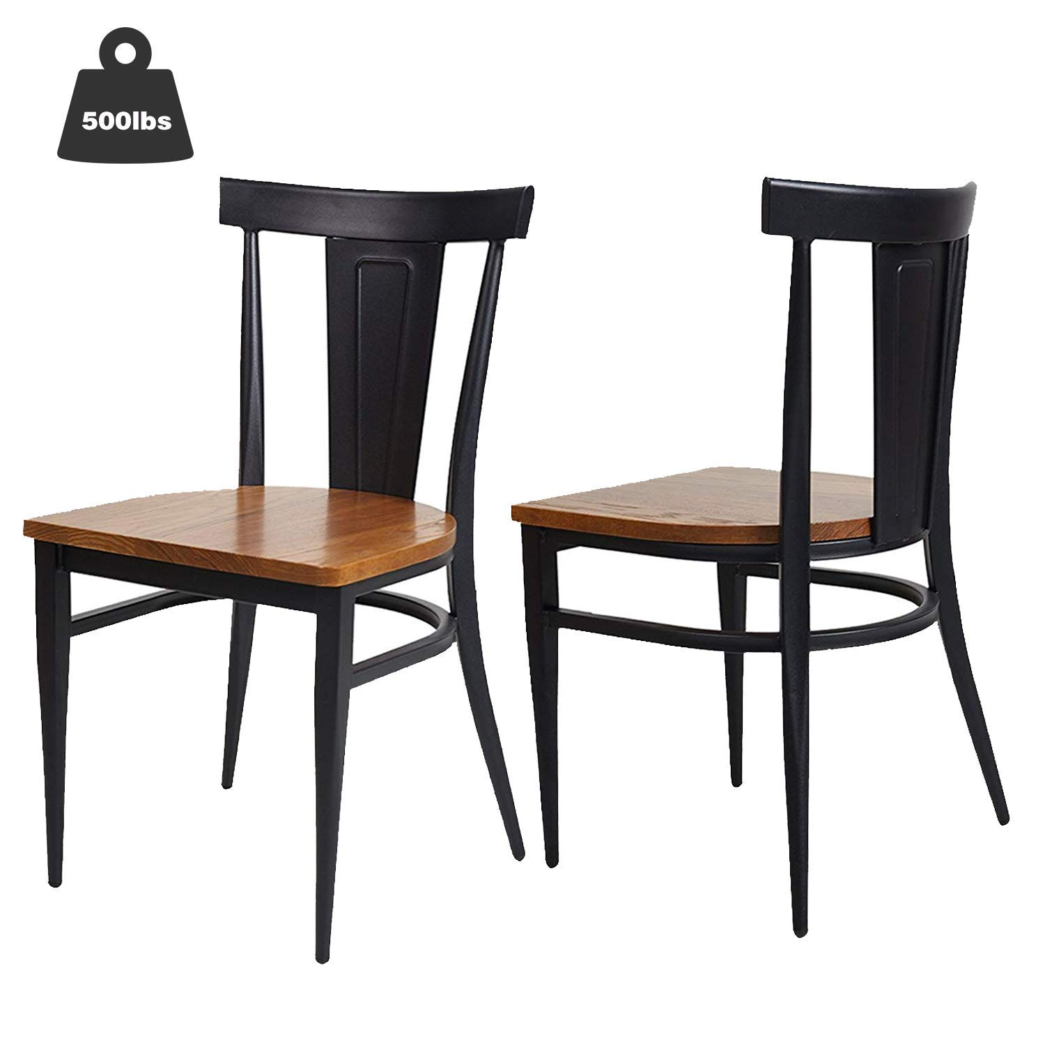 Amazon Com Karmas Product 2 Pack Stackable Metal Dining Chairs