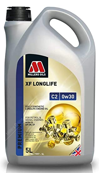 Millers Oils XF Longlife 0w30 C2 SN Aceite de Motor Totalmente sintético, 5 litros