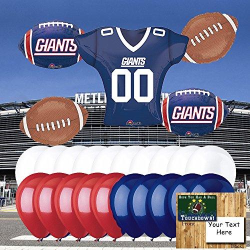 new york giants balloons - 3