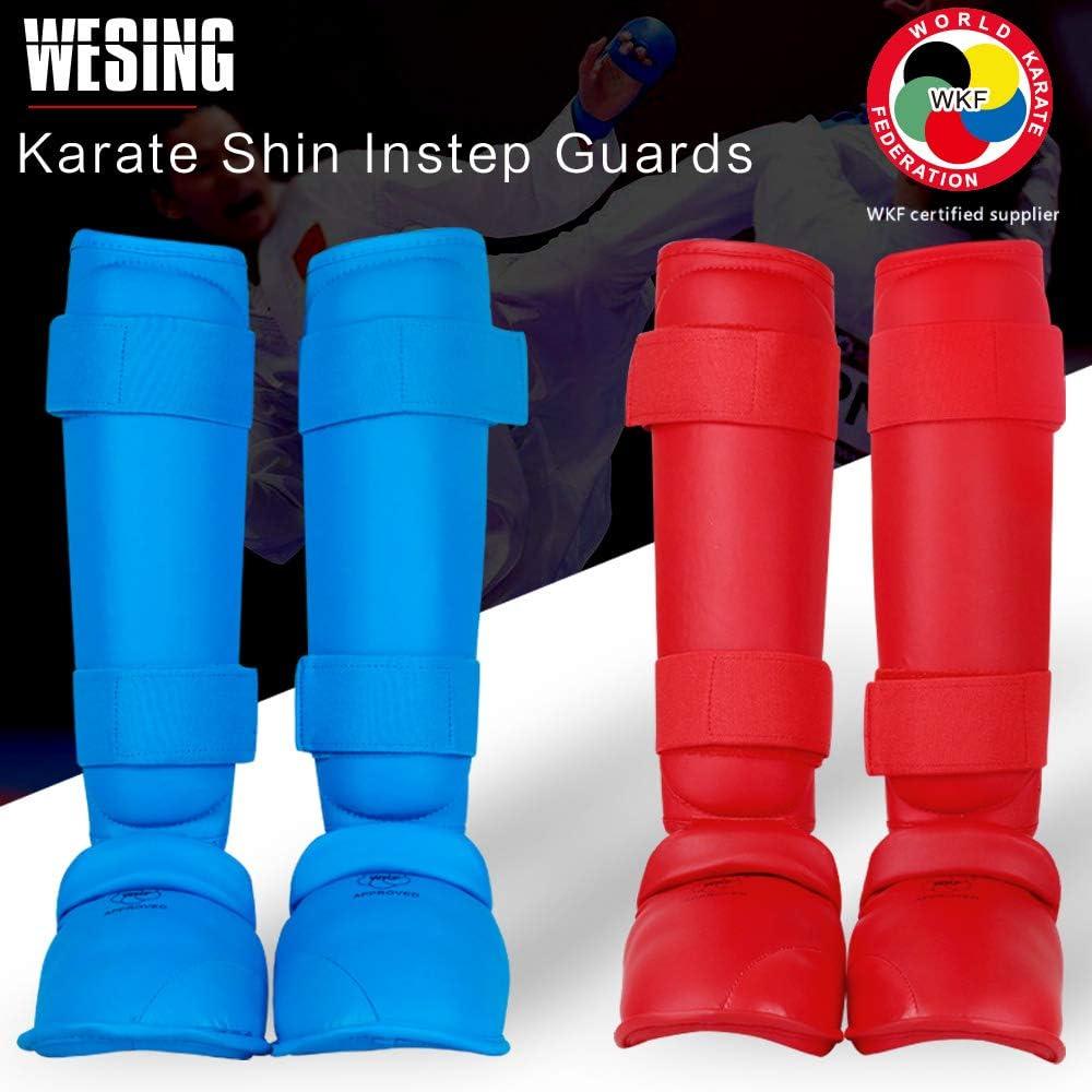 Wesing Karate Shin Instep Guard WKF Karate Shin Pad