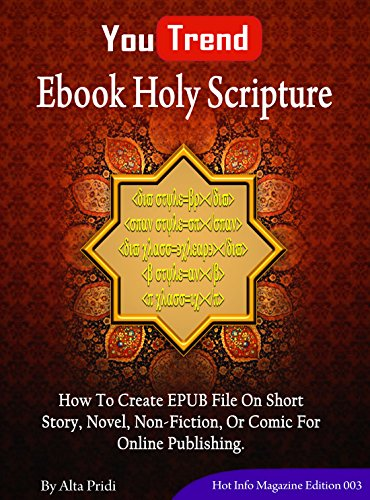 Ebook Holy Scripture  How To Create EPUB File On Short Story