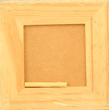 Amazoncom Artcove 5 Inch Square Plain Wood Picture Frame Photo 3