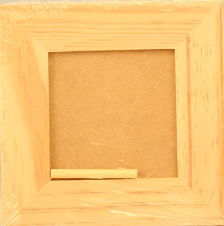 5 inch Square Plain Wood Picture Frame Photo 3/8 in Thick For 3 x 3 ...