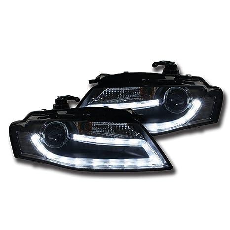 nighteye Audi A4 B8 Led Faros delanteros 3400lm haz de alta baja Bi-Xenon headlight