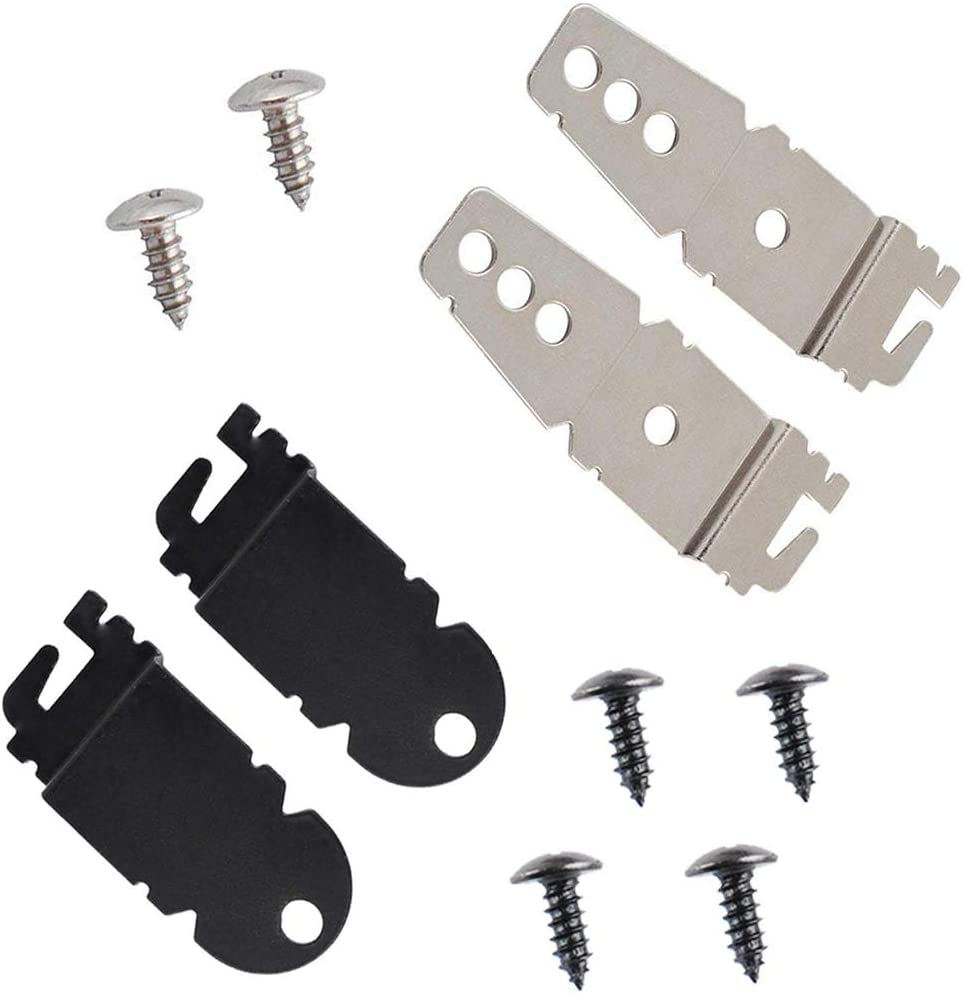 Ketofa 8212560 & 8269145 Dishwasher Mounting Brackets Clips Replacement for Whirlpool Kenmore KitchenAid Dishwashers with Screws