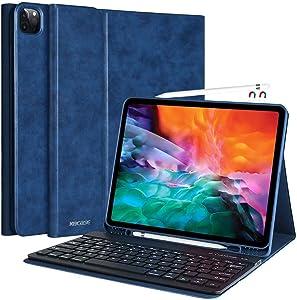Keyboard Case for iPad Pro 12.9 2021 5th Generation, 4th/3rd Generation, iPad 12.9 inch Pro 5th Generation Case with Keyboard Smart Keyboard Case with Pencil Holder iPad Pro 12.9 2021 Keyboard