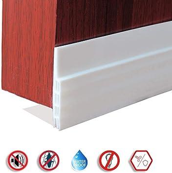 Burlete Puerta,OUNDEAL 100 x 5cm Burlete puerta blanco Burlete Autoadhesivo de Goma de Silicona, Antipolvo Aislamiento Acústico Prueba De Viento y Agua (blanco): Amazon.es: Bricolaje y herramientas