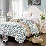 100% Cotton QUEEN Duvet Cover, Ksendalo 200-Thread-count 200x230cm Quilt Cover, Fully Printed, Very soft and Comfortable