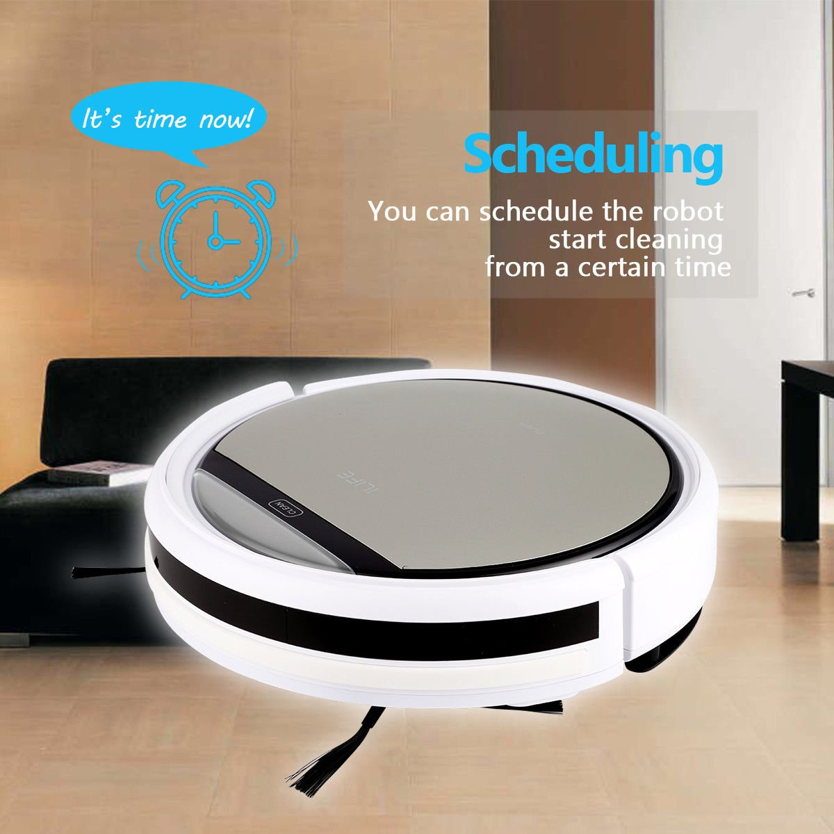 Cleaner Smart Robot Vacuum Cleaning Floor Auto Dust Microfiber Robotic Sweeper Mop Automatic by Alek...Shop (Image #3)