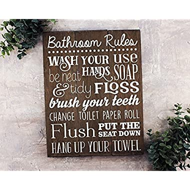Bathroom Rules Sign Bathroom Rules Sign Rustic Kids Bathroom Art Kids Bathroom Wall Decor Rustic Bathroom Sign Bathroom Wall Art