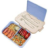 Lunch Box Niños, ZoneYan Fiambrera Compartimentos Eco, Bento Box Adulto, Fiambrera Infantil, Fiambreras con 3…