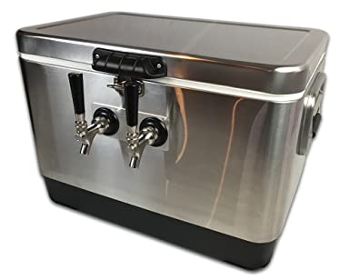 Coldbreak Brewing Equipment CBJB2TSPT - Dispensador portátil de cerveza y vino, 2 tapas