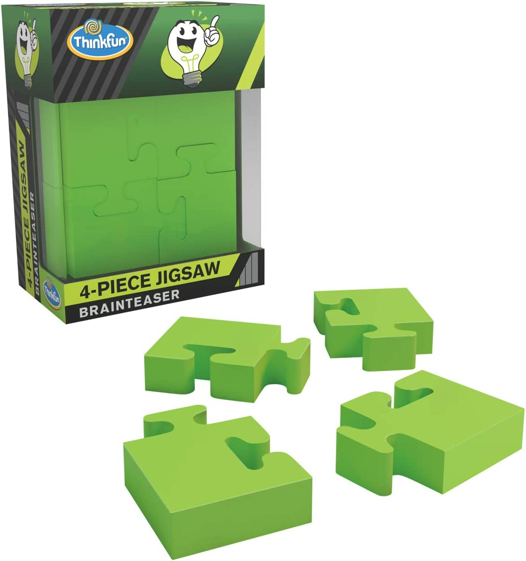 ThinkFun Pocket Brainteasers 4-Piece Jigsaw STEM Toy and Logic Game for Boys and Girls Age 8 and Up - A Tiny brainteaser That's Lots of Fun!