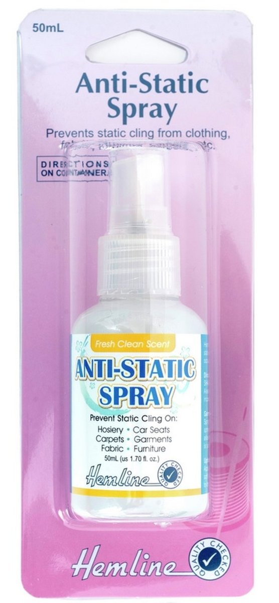 Hemline H814 | Anti-Static Spray 50ml Prevents Static Cling Groves B003X2L59C