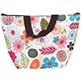 JASSINS Waterproof Picnic Insulated Fashion Lunch Cooler Tote Bag Travel Zipper Organizer Box,A70-Flower