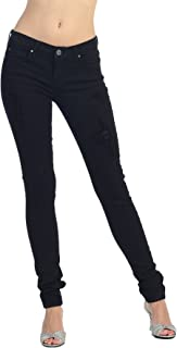 product image for Angry Rabbit Women's Black Tencel Destroyed Skinny Premium Denim Jeans