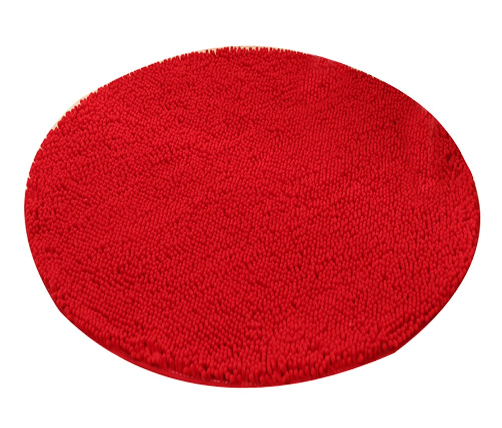 Heavy Multi-size Round Carpet Floor Area Rug Doormat Chenille Shaggy LivebyCare Ground Rugs Entrance Entry Way Front Door Mat Runner for Women Men Office Chair