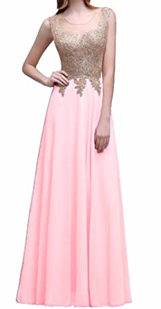 AIJIAYI Womens Chiffon Prom Dresses Lace Long Prom Party Gowns Sequin Sparkly Formal WJ1005