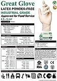 GREAT GLOVE 20010-M-BX Industrial Grade Glove, 5 - 5.5 mil, Powder-Free, Textured, Natural Rubber Latex, Food Safe (FDA 21 CFR 170-199), Medium, Natural