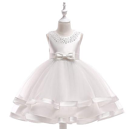0a4fab1234a9 Amazon.com  NOMSOCR Kids Girl Bowknot Costume Tutu Dress Pageant ...