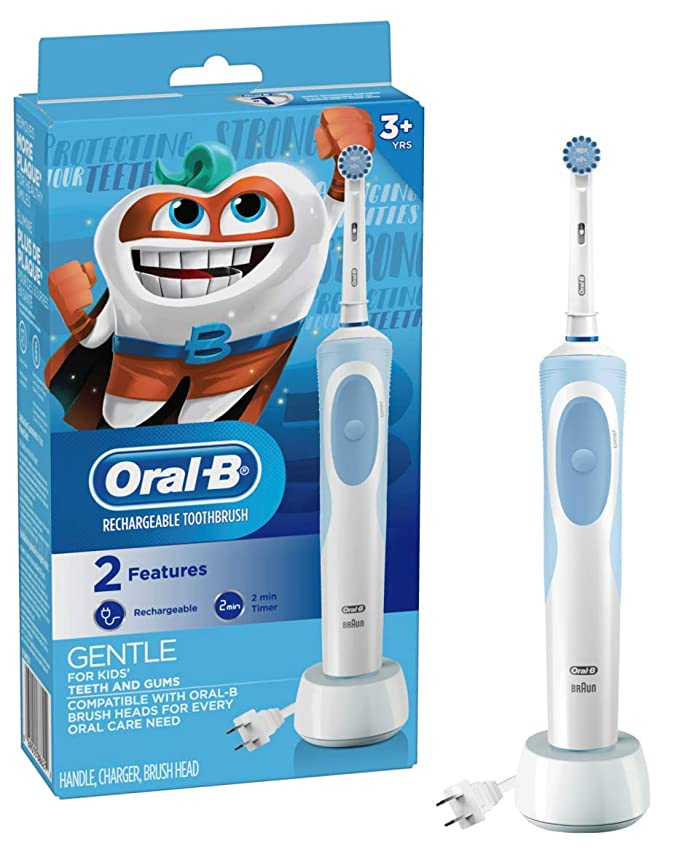 Amazon.com: Oral-B Kids Electric Toothbrush With Sensitive Brush Head and Timer, for Kids 3+ (Product Design May Vary): Beauty