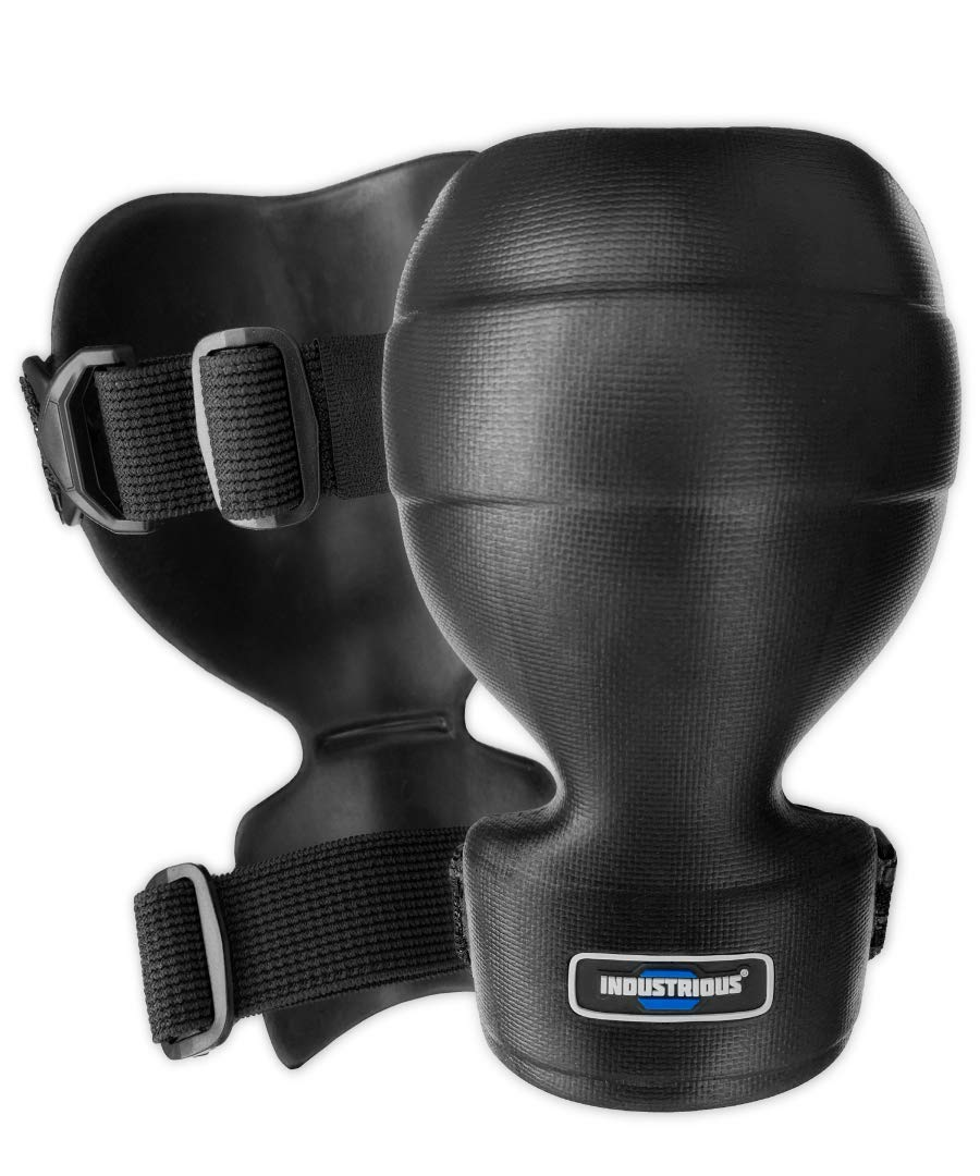 Non-Slip Grip Low-Profile and Form Fitting Knee Pads - Small/Medium