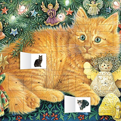 Kitty Ivory - Ivory Cats Hark the Herald Angels Sing advent calendar (with stickers)