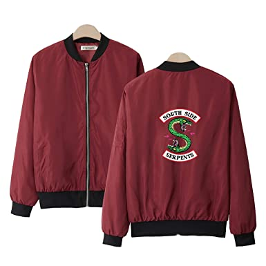 South Side Serpents Jacket Black Rouge Green Streetwear for ...