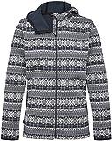 Mountain Designs Women's Nola Midweight Fleece Jacket, Peacoat/Snow White, 12