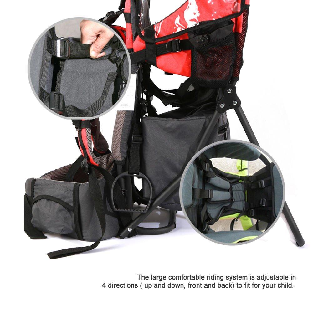 Gr/ün XTLSTORE Kindertrage R/ückentrage Rucksack Carrier bis 25kg