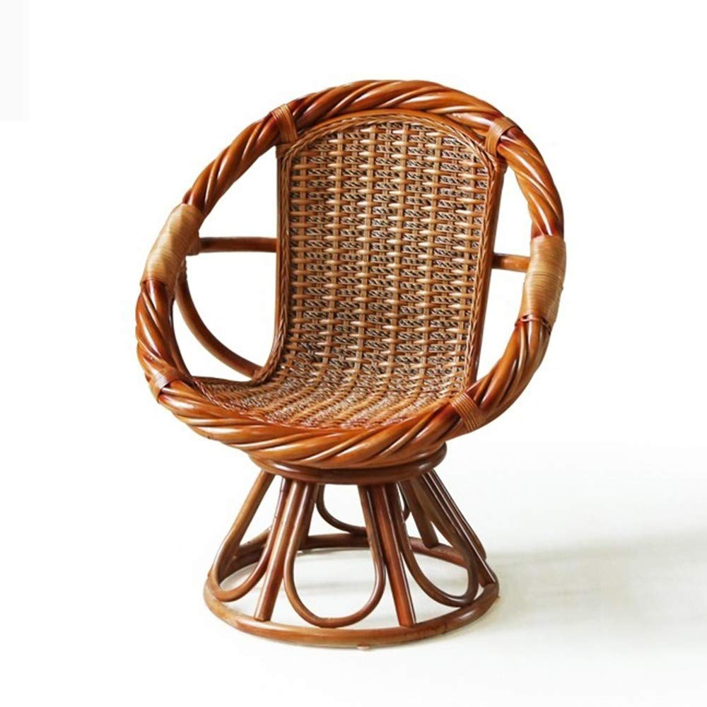 Seeksung chairs single woven rattan chair high elasticity indoor and outdoor furniture combination suitable for home garden length 70cm width 70cm