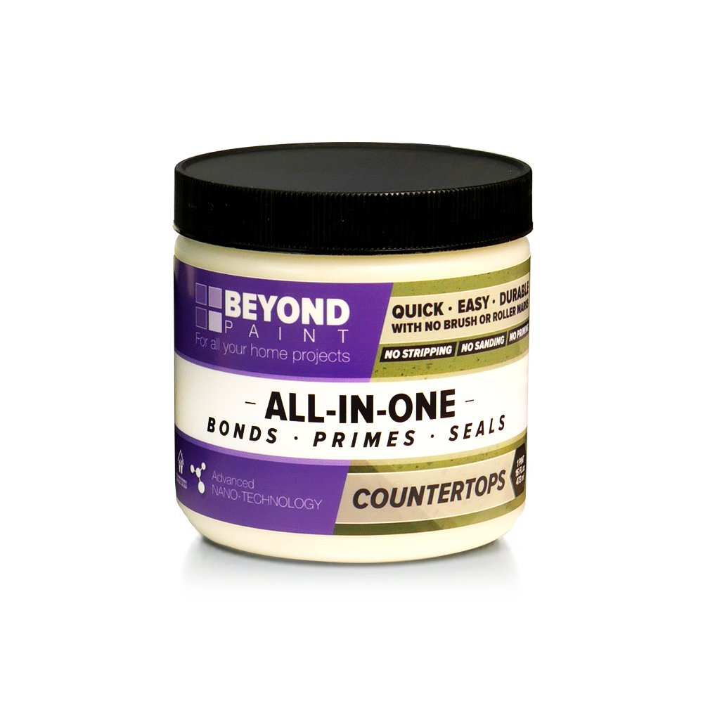 Beyond Paint Counter Top Paint - Pint - No stripping No Sanding No Priming, Bone