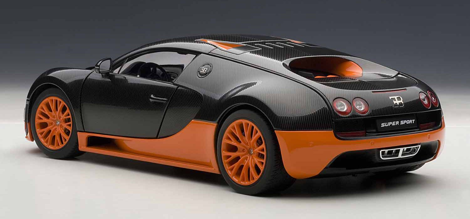Amazon.com: Autoart 1/18 Bugatti Veyron Super Sport (Carbon Black /  Orange): Toys U0026 Games