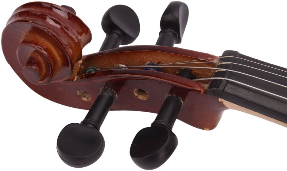 Solid wood,Natural Strap Strings Full Size New 4//4 Beginner Violin Bundle Tuner Rosin, Bow