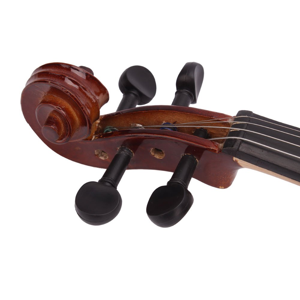 Lovinland 4/4 Acoustic Violin Natural Color Beginner Violin Full Size with Case Bow Rosin by Lovinland (Image #5)