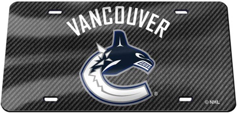 Vancouver Canucks Carbon Fiber Design Premium Laser Cut Tag License Plate Hockey